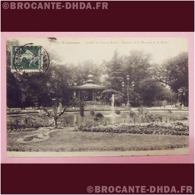 Toulouse - jardin du grand rond - kiosque de la musique et le bassin ...